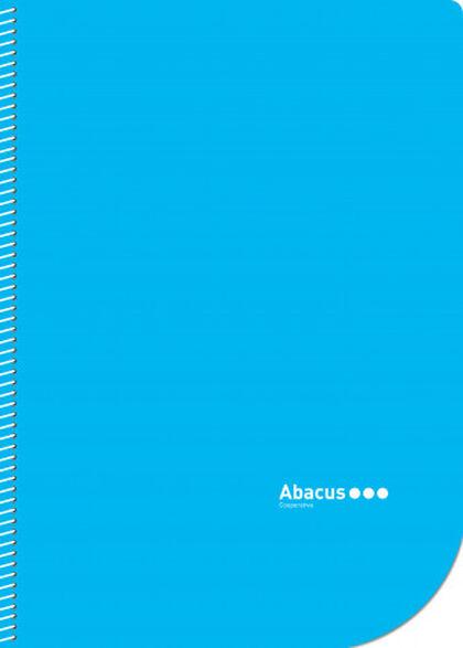 Libreta espiral Abacus Folio Liso 50 hojas Blau 5U