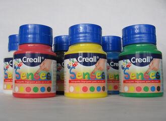 Pintura de dedos Creall Senses 500 ml Azul