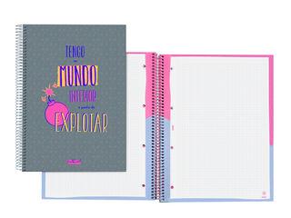LIBRETA ESP. A4 TALKUAL GRIS CAT