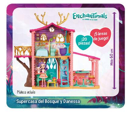 Casa de muñecas Mattel Enchantimals Súper casa del bosque