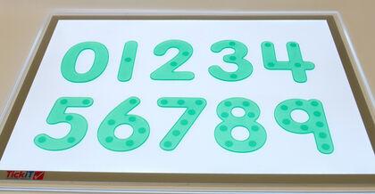 Números de silicona 10U TickiT
