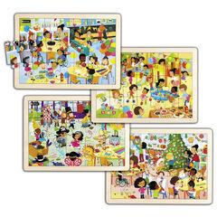 Puzzle Nathan Fiestas en la escuela