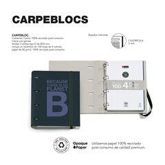 Carpebloc Ecoalf A4 A/Rec Blau