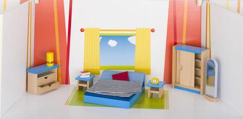 Casa de muñecas Goki Muebles de dormitorio