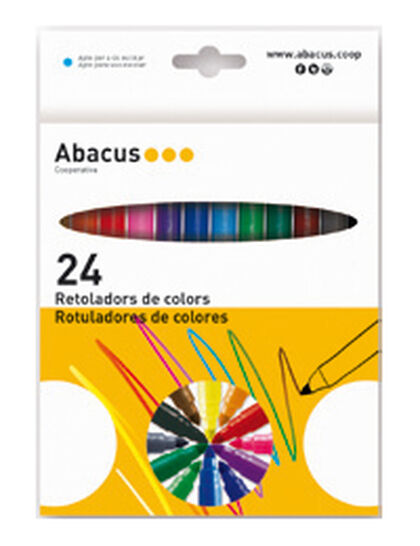 Set de rotuladores Abacus Gruesos 24 colores