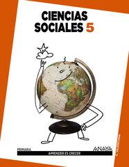 SOCIALES APRENDER CRECER 5º PRIMARIA Anaya Text 9788467834369