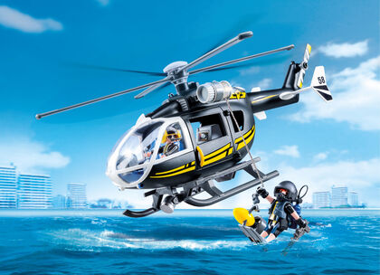 Playmobil City Action Helicóptero de las fuerzas especiales