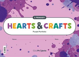 5PRI HEARTS <(>&<)> CRAFTS PURPLE NTB I ED19 Santillana Text 9788468050812
