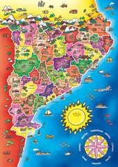 Puzzle Comarques de Catalunya Diset