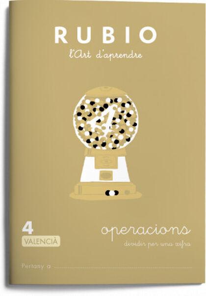 OPERACIONS 4 DIVIDIR 1 XIFRA PRIMÀRIA Rubio 9788416744510
