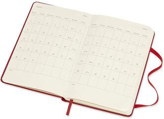 Agenda anual Moleskine Classic Pocket 2021 Inglés Semana Rojo