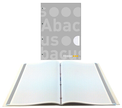 NotebookAbacusEncuadernado A4 100 hojas 70gr5x5Gris