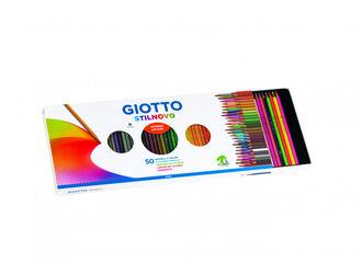 Estuche de lápices de colores Giotto Stilnovo - 50 colores