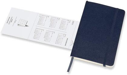 Agenda Moleskine 2021 Soft Pocket Semana Vista Inglés  Azul (9x14 cm)