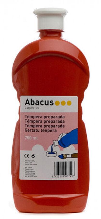 Tempera prepaprada Abacus 750 ml Vermell
