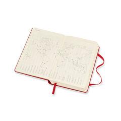 Agenda anual Moleskine Soft Large 2021 Inglés Día Rojo