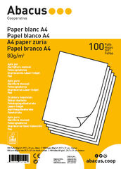 Papel Blanco Abacus A4 80 GR 100F