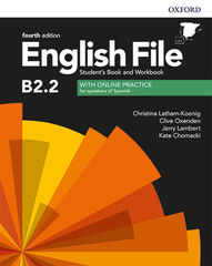 ENGLISH FILE B2.2 SBWB W/KEY 4ED Oxford 9780194058308
