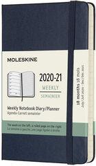 Agenda Moleskine 2020 - 2021 18 mesos Pocket Setmana Vista Anglès Blau (9x14 cm)