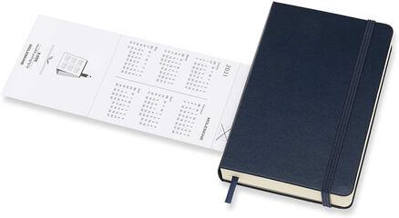 Agenda anual Moleskine Classic Pocket 2021 Inglés Día Azul
