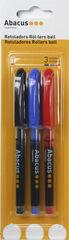 BolígrafoRollerMarcaAbacus3 colores (negro, Azul y rojo)