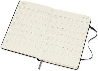 Agenda Moleskine 2020 - 2021 18 meses Pocket Semana Vista Inglés Negro (9x14 cm)