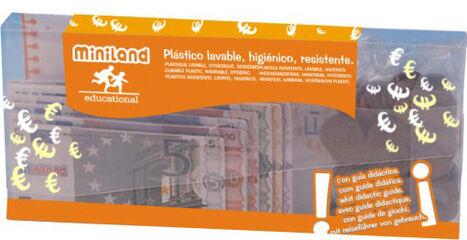 Juego de simbòlico Miniland Euros - 28 Billetes y 80 Monedas