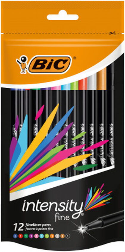 Rotulador Bic Intensity Fineliner - 12 colores