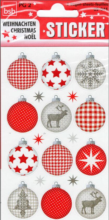 Sticker Navidad Bolas