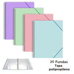 CARP.20 FUNDAS SENFORT ESP.PASTEL C/GOMA