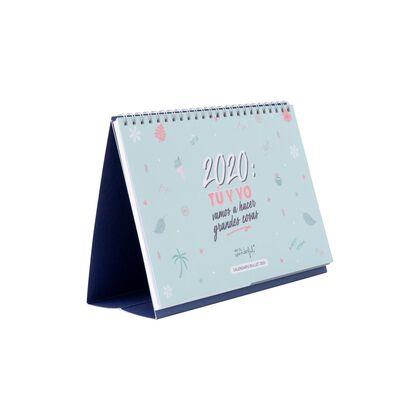 Calendario Mr.Wonderful Bullet 2020 Tú y yo ... Castellano
