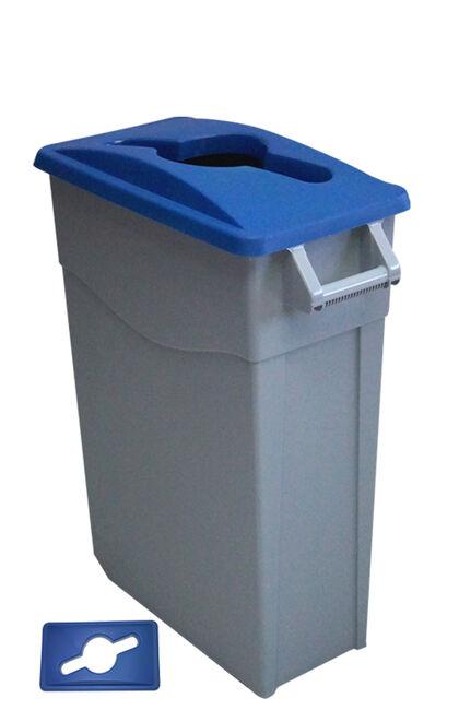 Contenedor Denox Reciclar 65L - Tapa abierta Azul