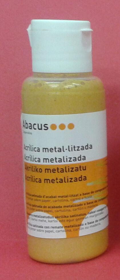 Pintura acrílica Abacus 80 ml Oro