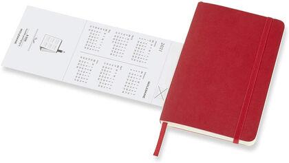 Agenda anual Moleskine Horizontal Soft Pocket 2021 Inglés Semana Rojo