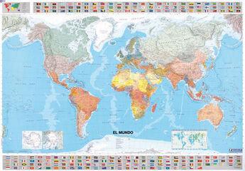 Mapa en tubo El Mundo (pequeño formato)