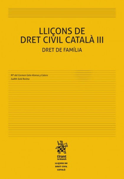 Lliçons de Dret Civil Català III Dret de