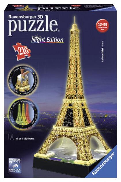 Puzzle 3D Ravensburger Torre Eiffel Noche