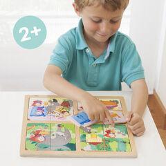 Puzzles Akros Secuencias Caperucita + Pinocho