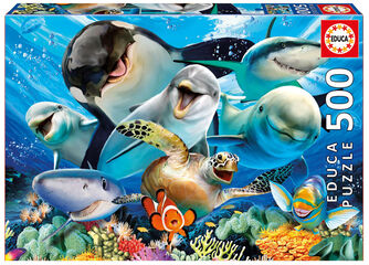 Puzzle Educa Puzzle selfie bajo el agua