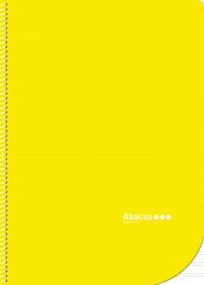 Libreta espiral Abacus A4 Pauta 2,5 con margen 50 fulls Amarillo 5U