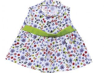 Ropa para muñeco Abacus Vestido estampado flor pértiga Verde