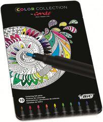 Retoladors Conté caixa metàl·lica - 10 colors