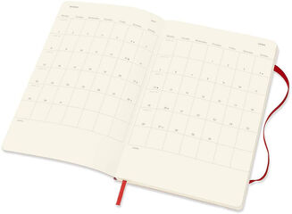 Agenda anual Moleskine Horizontal Soft Large 2021 Inglés Semana Rojo