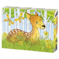 Puzzle Goki Cubos Animales del bosque
