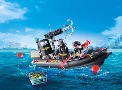 Vehículo Playmobil City Action Lancha de las fuerzas especiales