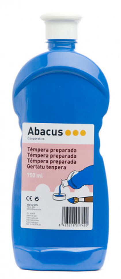 Témpera prepaprada Abacus 750 ml Azul
