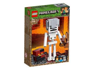 Lego Minecraft Esqueleto con cubo magma