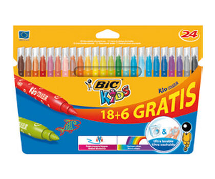 Rotulador Bic Kid Color 18+6