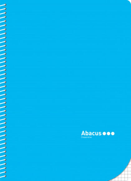 Libreta espiral  Abacus Con anillas A4 Azul