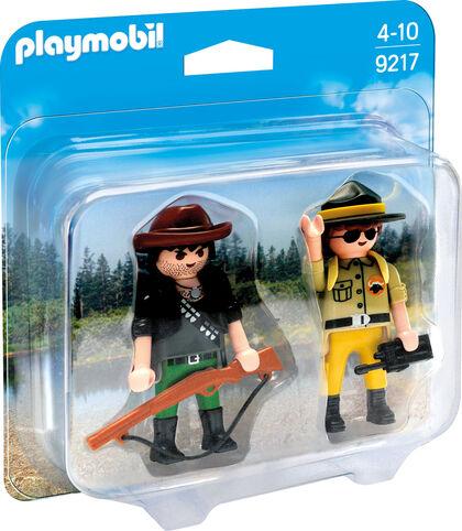 Playmobil Action Rescate dúo ranger y cazador furtivo